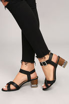 Qupid Blaire Black High Heel Sandals