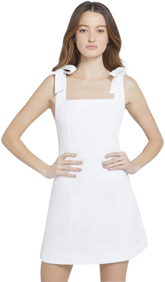 Alice + Olivia Maryann Tie Shoulder Mini Dress