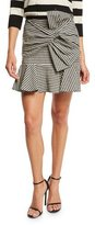 Veronica Beard Picnic Bow Mini Skirt, Black/White
