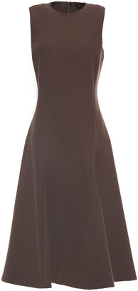 Joseph Flared Wool-blend Twill Dress