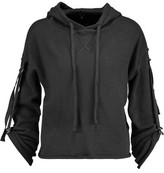 R 13 Embellished Cotton-Terry Hooded Sweatshirt
