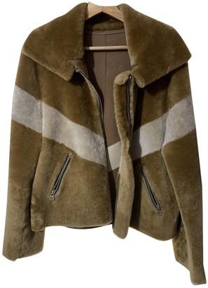 Sandro Spring Summer 2019 Beige Shearling Jacket for Women