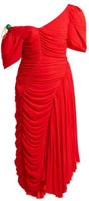 Preen by Thornton Bregazzi Kesia Asymmetric Georgette Dress - Womens - Red