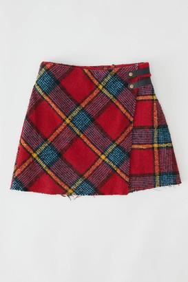 Urban Outfitters Huntley Wool Wrap Mini Skirt