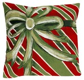 "Liora Manné Gift Box Throw Indoor/Outdoor Pillow Green (20""x20"")"