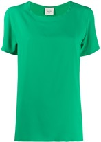 Alysi short-sleeved loose-fit blouse