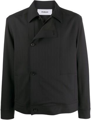 Chalayan Striped Layered-Panel Jacket