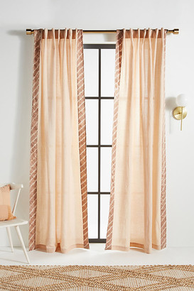 """Anthropologie Flower-Dyed Alisha Curtains, Set of 2 By in Purple Size 50"""" X 96"""""""