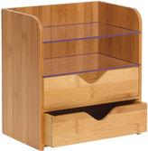 Lipper 4-Tier Desk Organizer with Acrylic Shelves