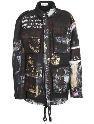 Faith Connexion Paint Splash Military Jacket