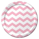 Classic Pink Disposable Plates - 8 Count