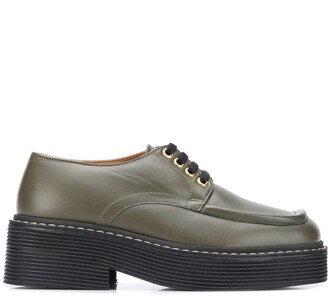 Marni Square-Toe Lace-Up Shoes