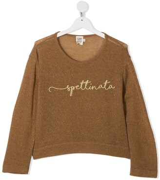 Caffe' D'orzo TEEN Lanve embroidered top