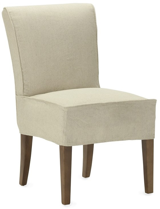 Williams-Sonoma Fitzgerald Slipcovered Side Chair, Linen