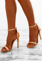 Pink Boutique Anonymous Rose Gold Barely There Heels