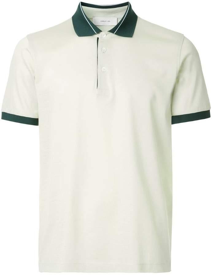 Cerruti contrast trim polo shirt