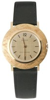 Benrus Gold-Plated Hand-Winding Shock Absorber Leather Band Mens Watch