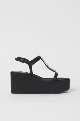 H&M Platform Wedge-heel Sandals