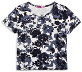Aqua Girls' Floral-Print Tee, Big Kid - 100% Exclusive