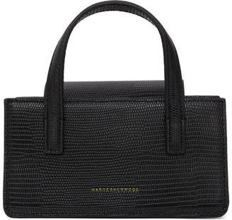 Marge Sherwood Black Lizard-Embossed Mini Grandma Bag
