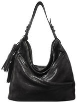 Sondra Roberts Lizard Textured Leather Mini Hobo Bag