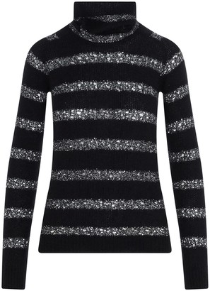 Saint Laurent Striped Turtleneck Sweater
