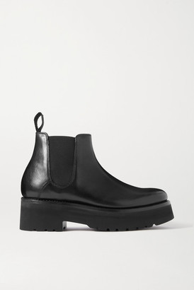 Grenson Naomi Leather Platform Chelsea Boots - Black