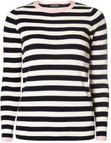 Dorothy Perkins Navy and Ivory Stripe Jumper