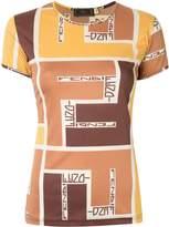 Fendi Pre Owned geometric logo print T-shirt