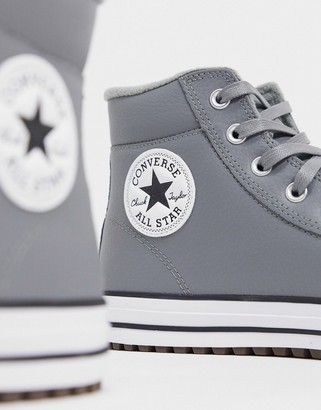 Converse Chuck Taylor All Star leather boots in gray