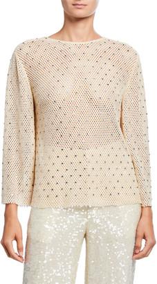 Sally LaPointe Diamond-Crocheted Top