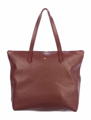Cuyana Classic Leather Zipper Tote Red
