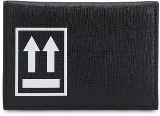 Off-White Off White LOGO PRINTED LEATHER CARD HOLDER