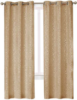 Asstd National Brand Medallion 2-Pack Blackout Grommet-Top Curtain Panels