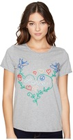 Romeo & Juliet Couture Knitted Multicolor Embroidered Love Top