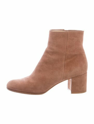 Gianvito Rossi Margaux Suede Boots Pink