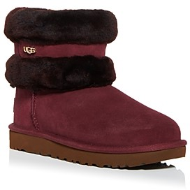 UGG Women's Fluff Mini Belted Shearling Booties