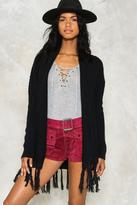 Nasty Gal nastygal Livin' on the Edge Tassel Cardigan