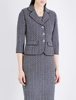 St. John Lela wool-blend tweed jacket