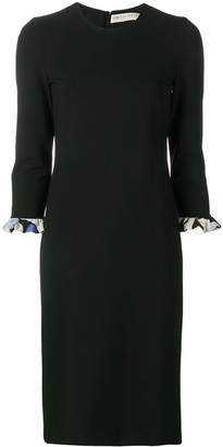 Emilio Pucci Alex print cuffs fitted dress