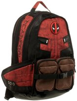 Bioworld Marvel Comics Deadpool Licensed Laptop Bag Backpack School Book Bag Gym Travel