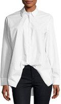 Alexander Wang Spread-Collar Long-Sleeve Poplin Shirt