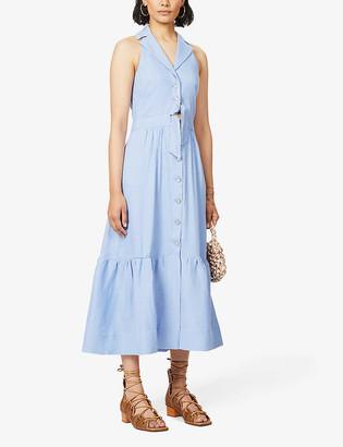 Temperley London Sophia sleeveless linen-blend midi dress