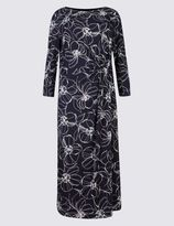 Marks and Spencer Floral Print 3/4 Sleeve Bodycon Dress