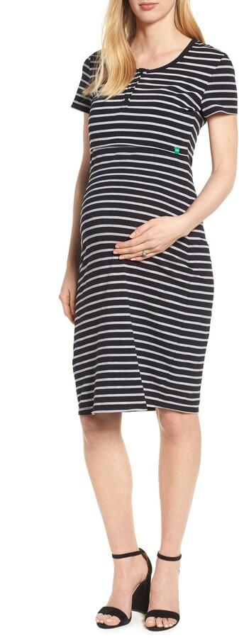 Thumbnail for your product : Modern Eternity Maternity/Nursing Henley T-Shirt Dress