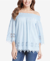 Karen Kane Cotton Off-The-Shoulder Peasant Top