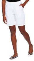 """Denim & Co. How Timeless"""" Stretch Two Pocket Shorts"""