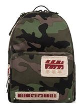 Valentino Army Green Camouflage Backpack