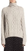 Vince Cable-Knit Turtleneck Sweater