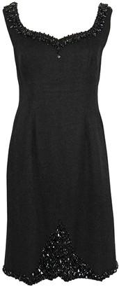 Jean Louis Scherrer Jean-louis Scherrer Black Wool Dress for Women Vintage